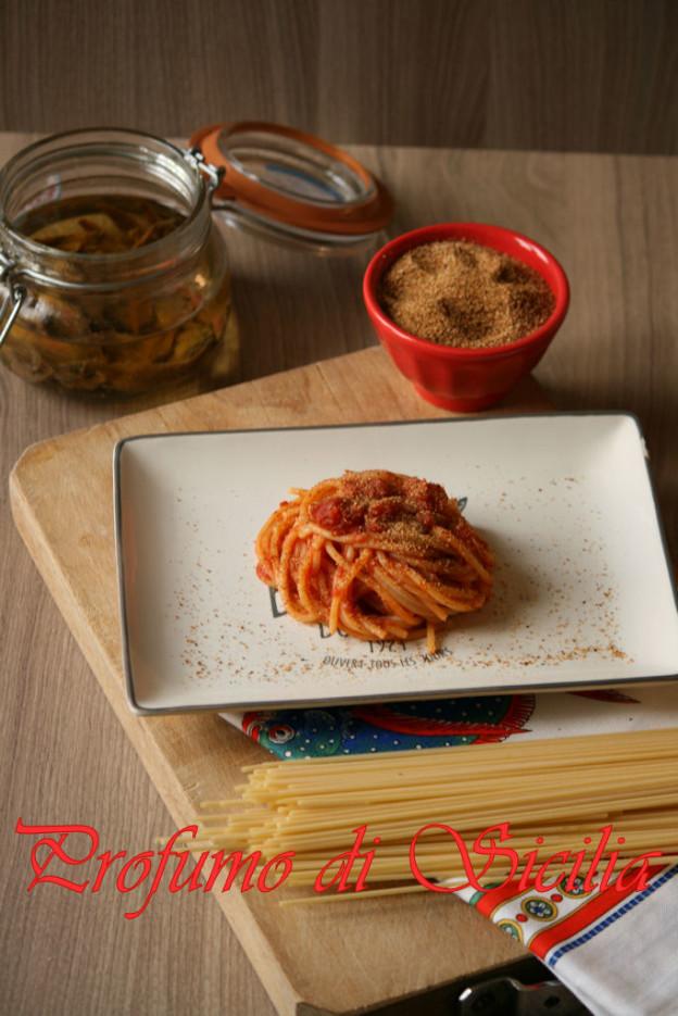 Pasta con le alici alla Messinese-Pasta c'anciuova - Pasta con le alici alla messinese