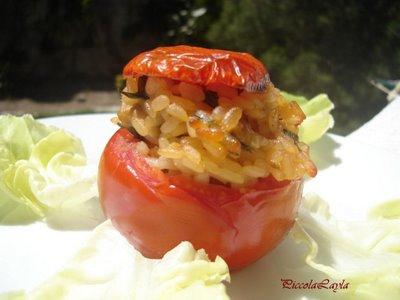 Pomodori Ripieni di Risotto ai Porcini e cuor di Pomodoro