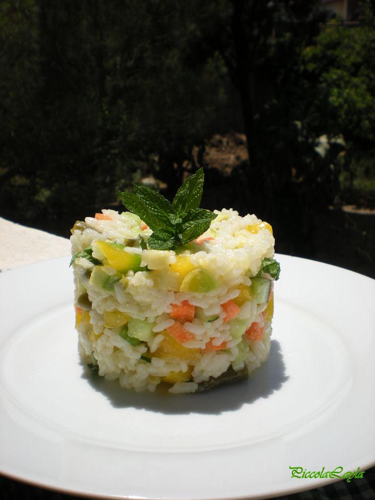 insalata di riso con verdure  (8)