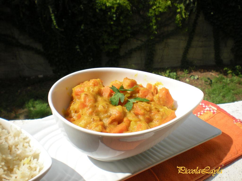 Il sapore dell'India a tavola con il Korma di Zucca e Patate