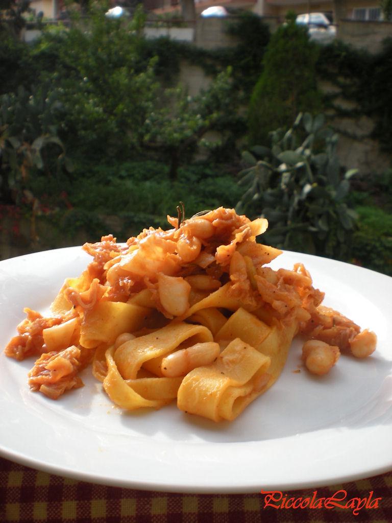 Pappardelle con Verza e Cannellini