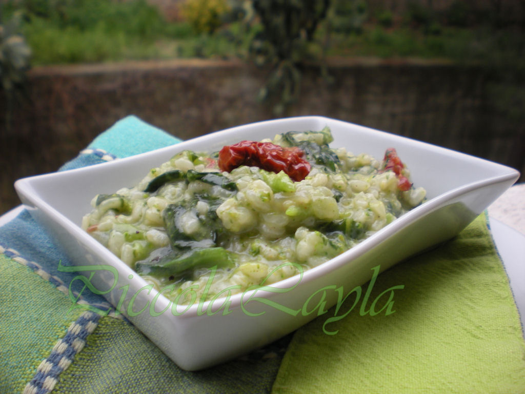 Risotto Sparacelli e Pomodori Secchi