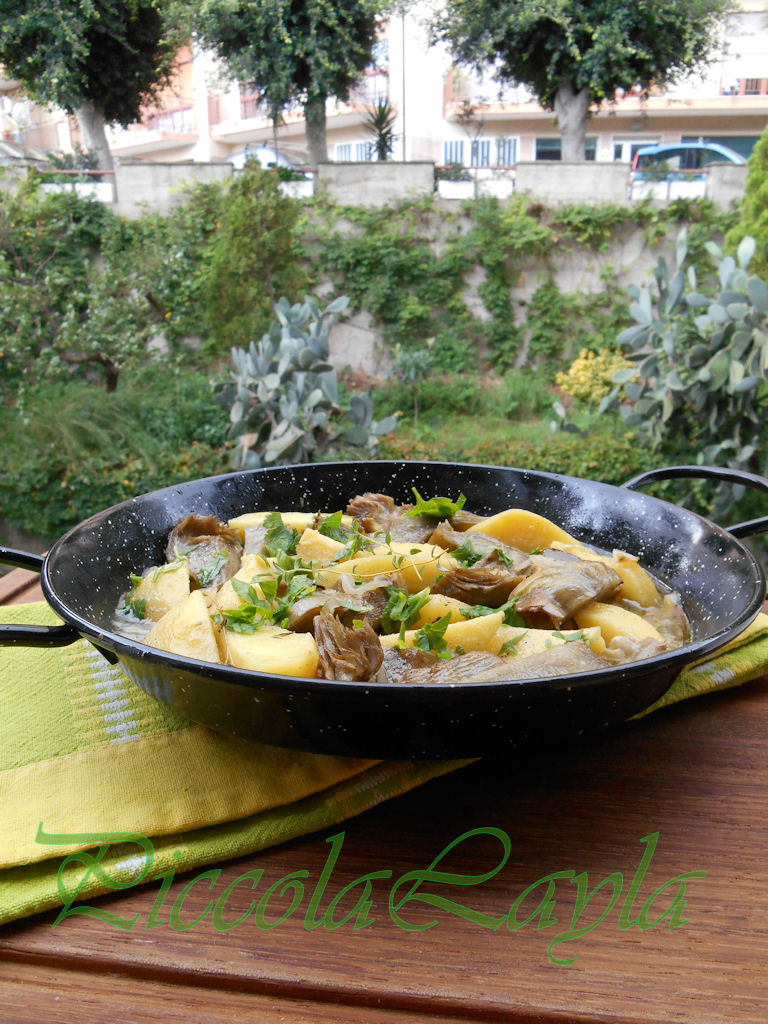 padellata di carciofi e patate (6)b