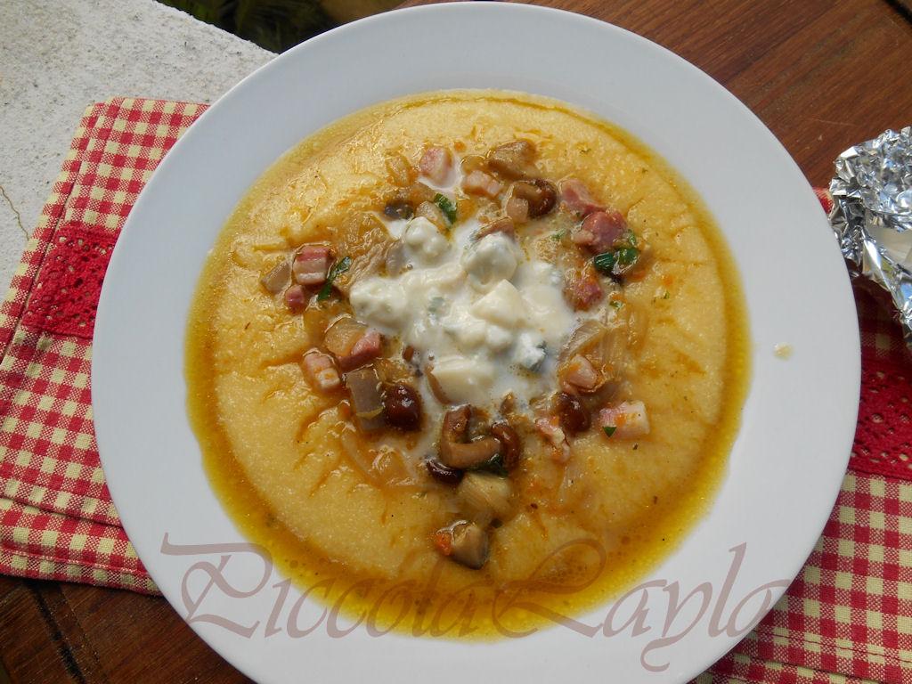 polenta ai funghi e gorgonzola (10)b