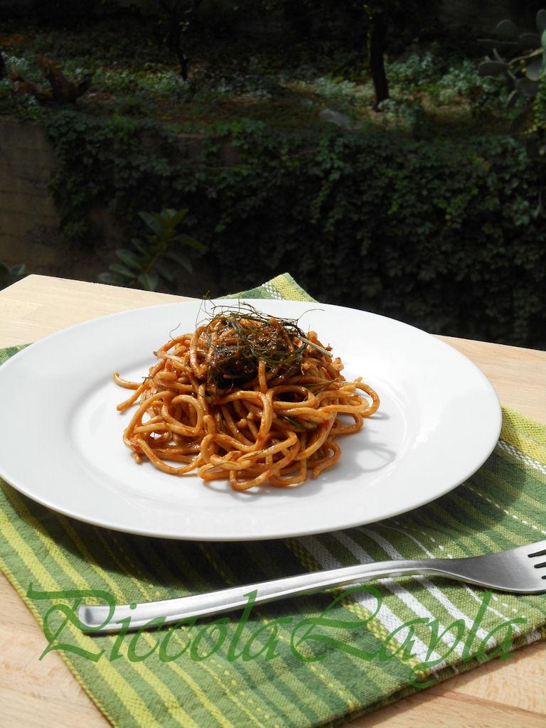 Pasta tumminia con pesto rosso al finocchietto (42)b