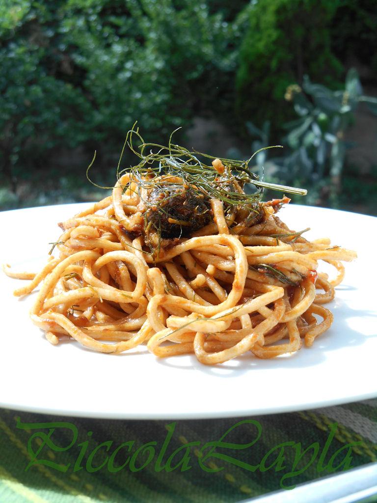 Pasta tumminia con pesto rosso al finocchietto (46)b