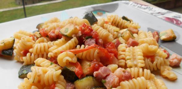 Riccioli con Zucchine Affumicate