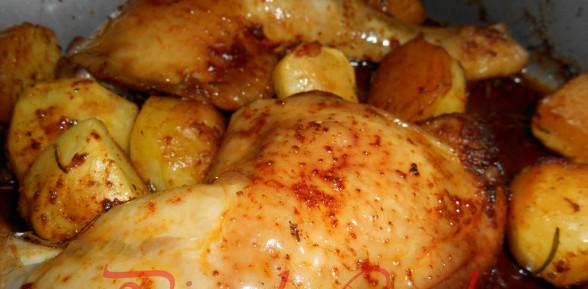 Pollo al Forno Affumicato con Patate … un nuovo sapore ad un piatto classico