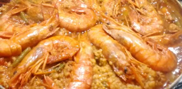 Paella Valenciana de Restorante