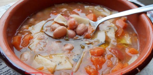 Tacconelli al Basilico per la Zuppa di Borlotti