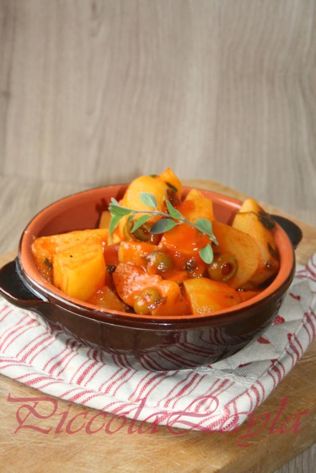 Patate alle Olive e Maggiorana