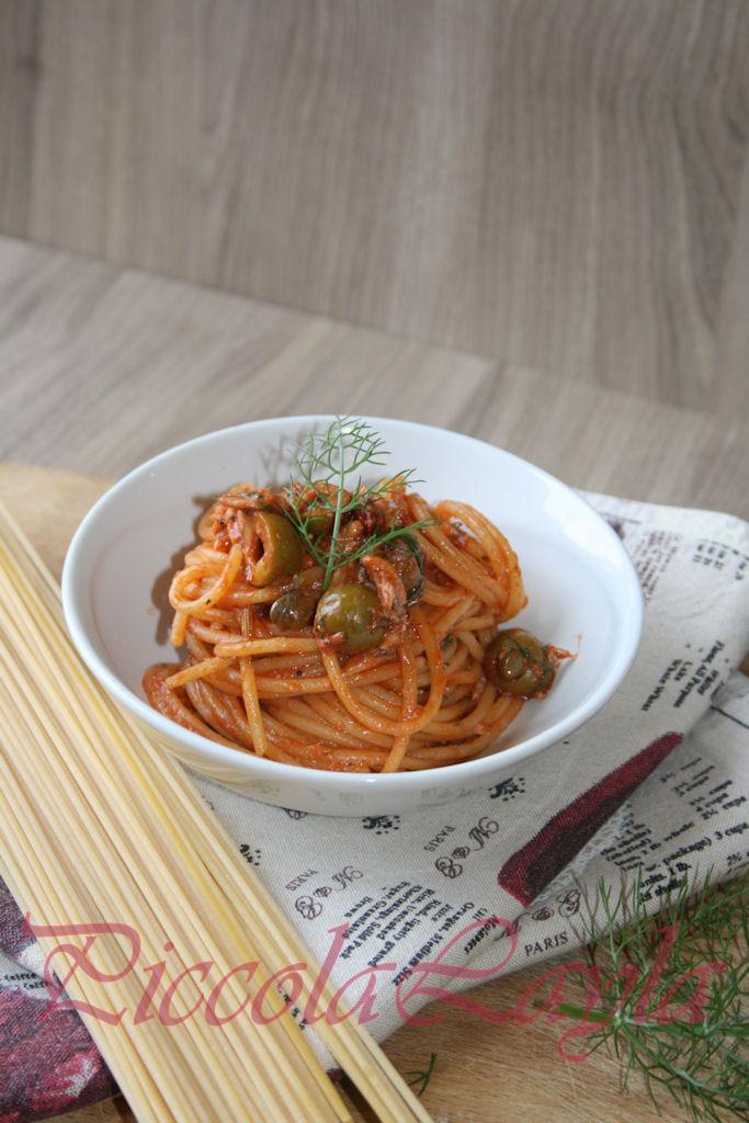 Spaghetti Rustici con Sarde e Olive
