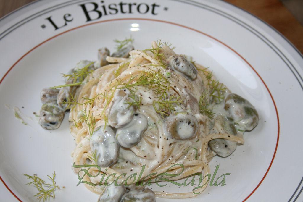 Pasta con Fave Fresche e Ricotta
