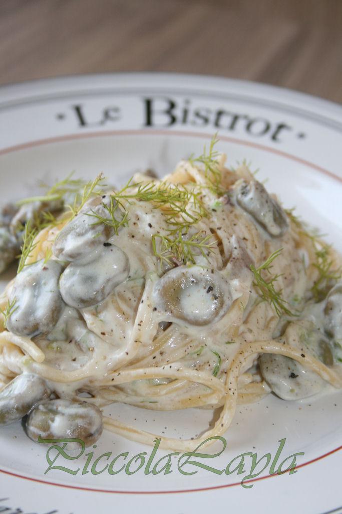 Pasta con Fave Fresche e Ricotta Cremosa