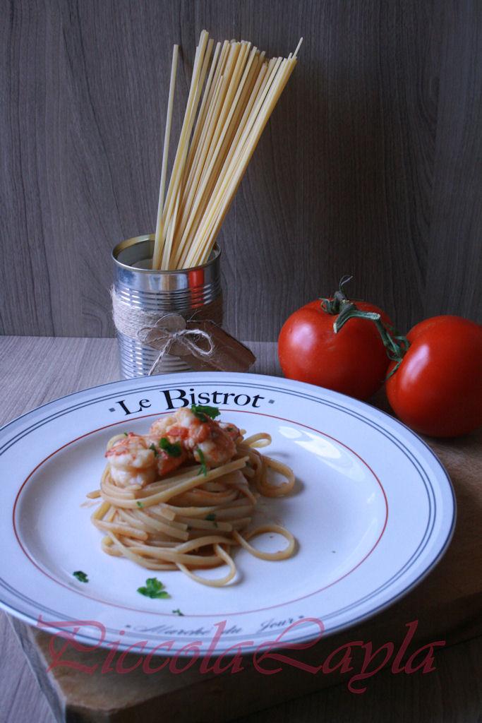 Linguine con Gamberoni Speziati