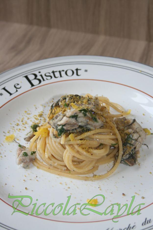 Spaghetti con Sarde e Pistacchi di Bronte
