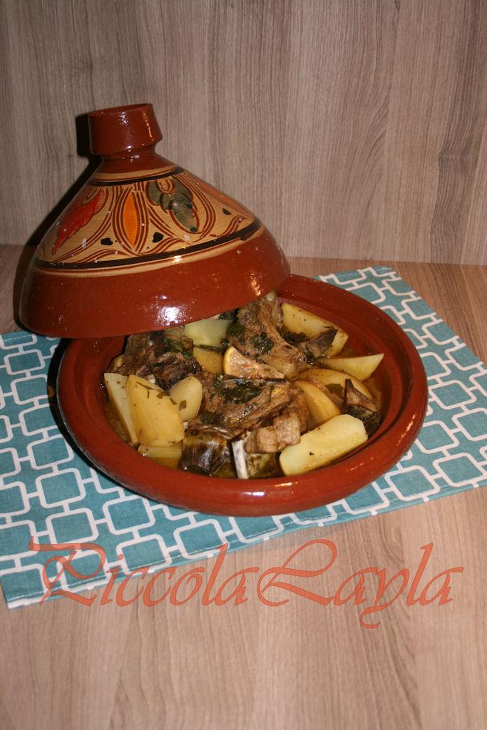 Tajine di Agnello con Patate e Carciofi