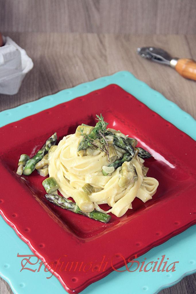 un delizioso piatto di pasta primaverile