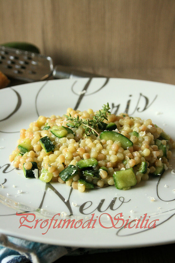 Fregola Sarda con Zucchine e Pecorino