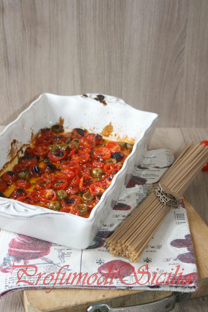 spaghetti con pomodorini gratinati (12)b