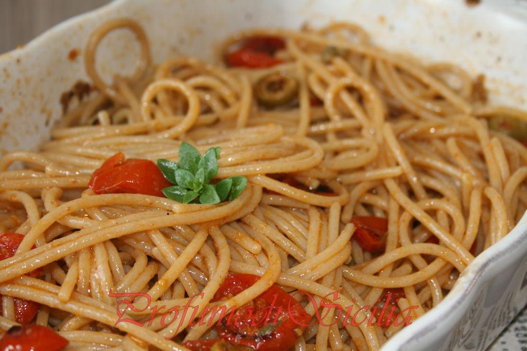 spaghetti con pomodorini gratinati (28)b