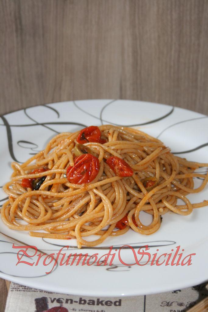 spaghetti con pomodorini gratinati (39)b