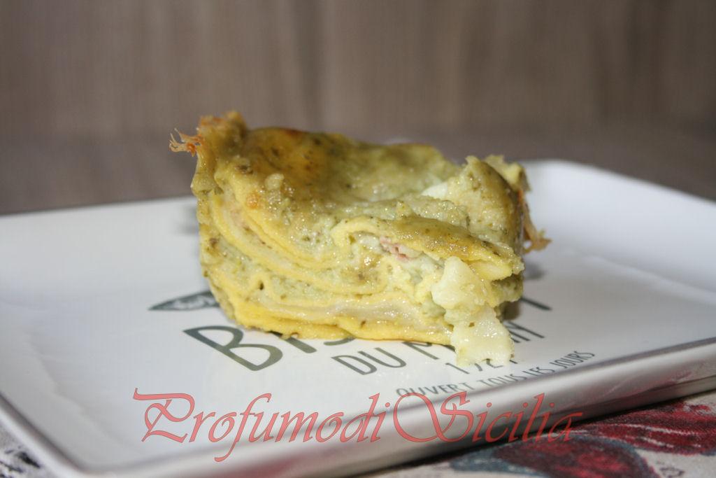 Lasagne al pesto con mozzarella