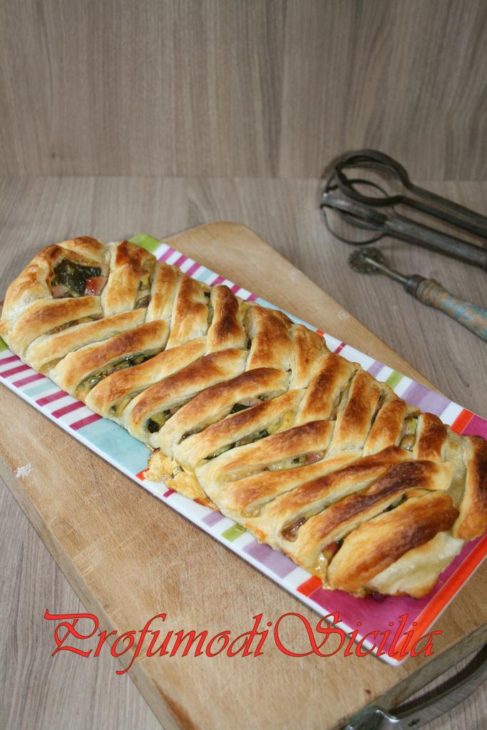 Treccia Zucchine e Prosciutto Cotto