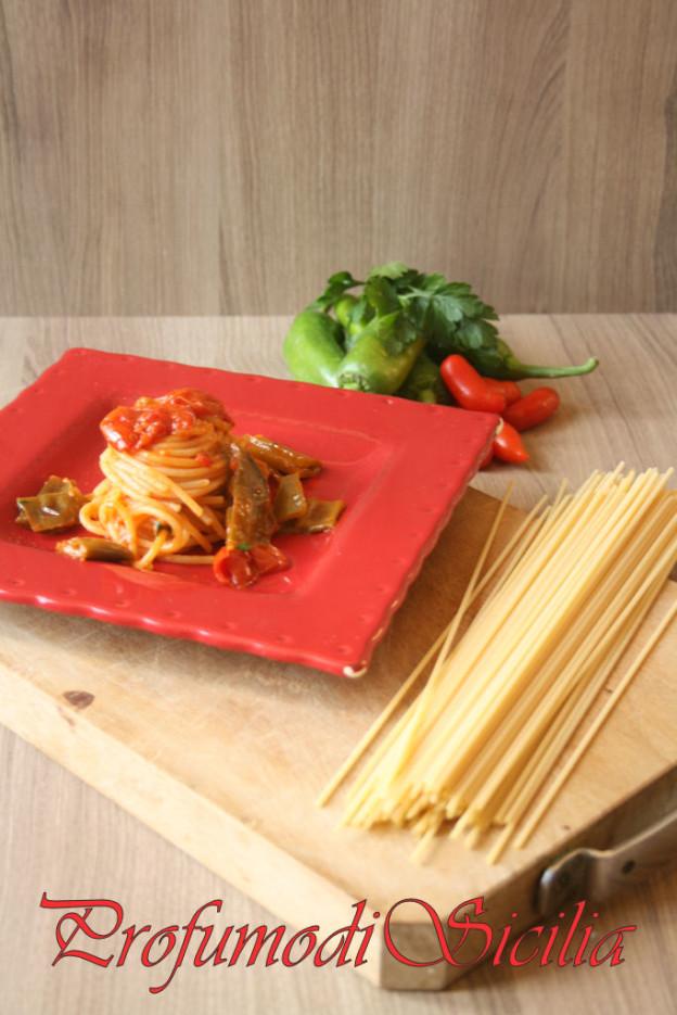 Spaghetti veloci con Friggitelli
