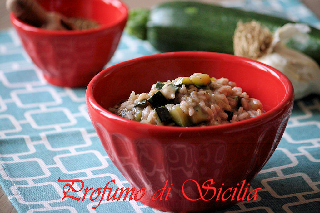 Risotto con Zucchine e Erbe di Provenza al Pinot Nero