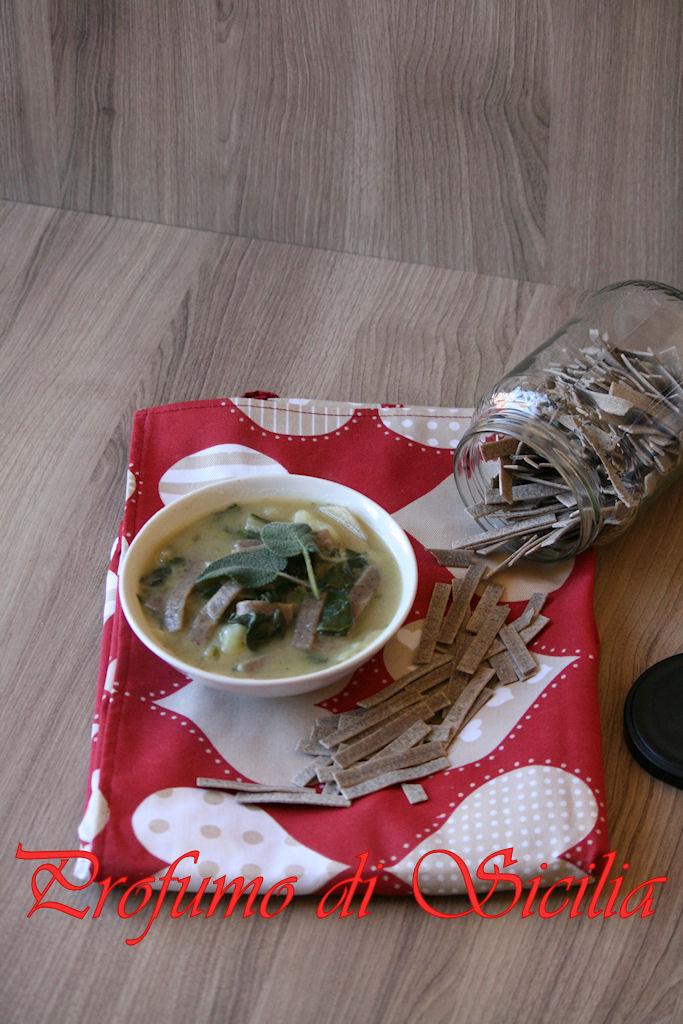Zuppa di Coste e Patate con Pizzoccheri