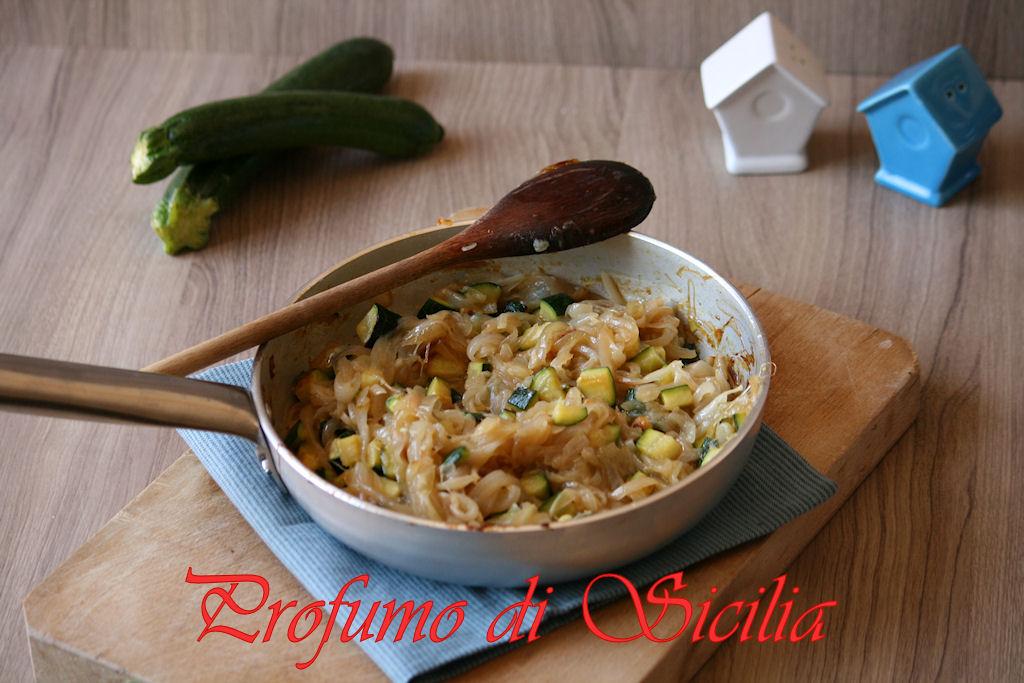 Torta salata con Cipolla di Breme e Zucchine