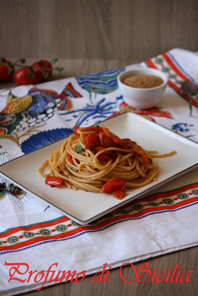 Spaghetti Peperoni e Alici