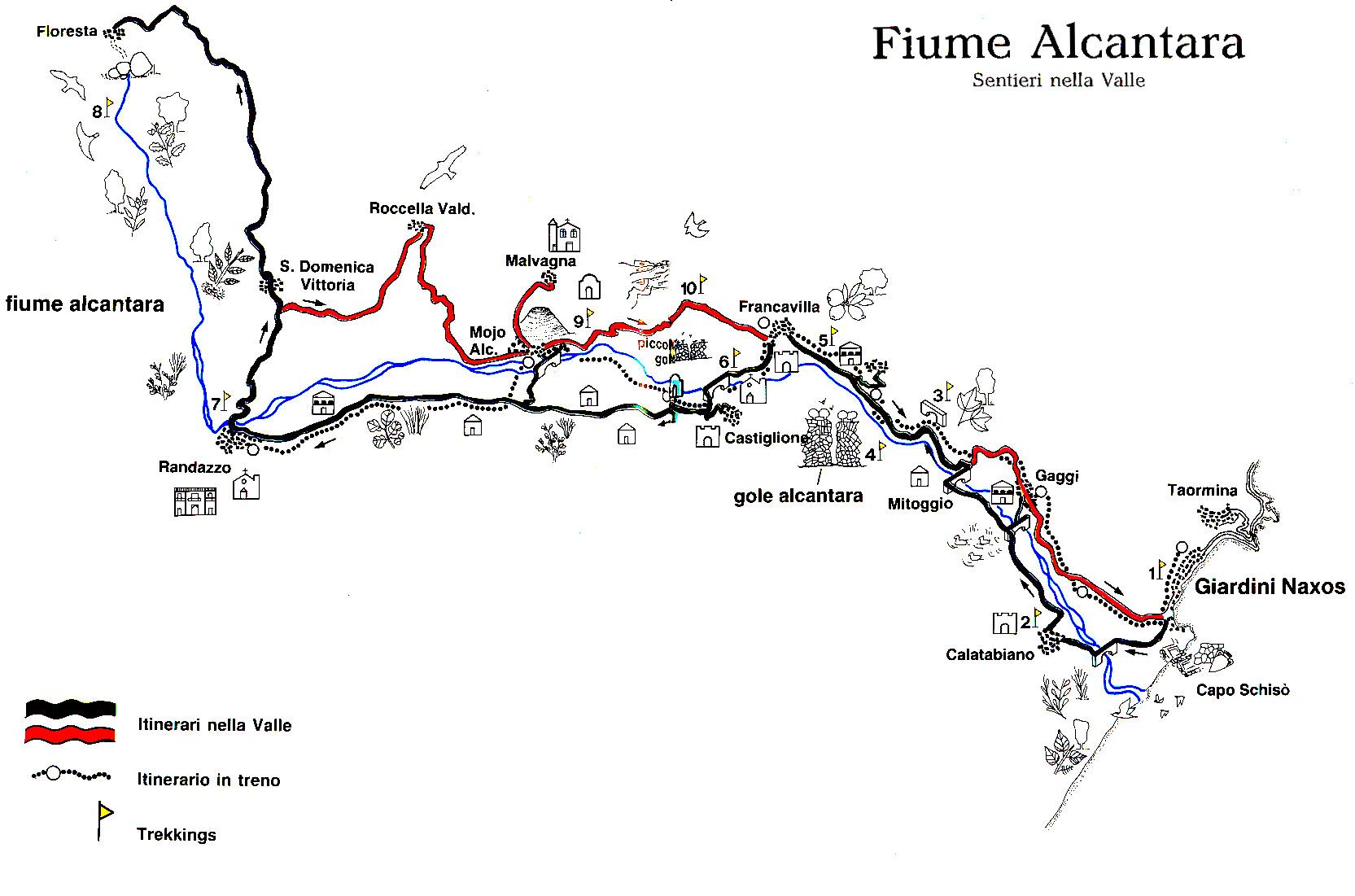 Percorso del fiume Alcantara - Charlotte al Mascarpone con Pesche del Mojo