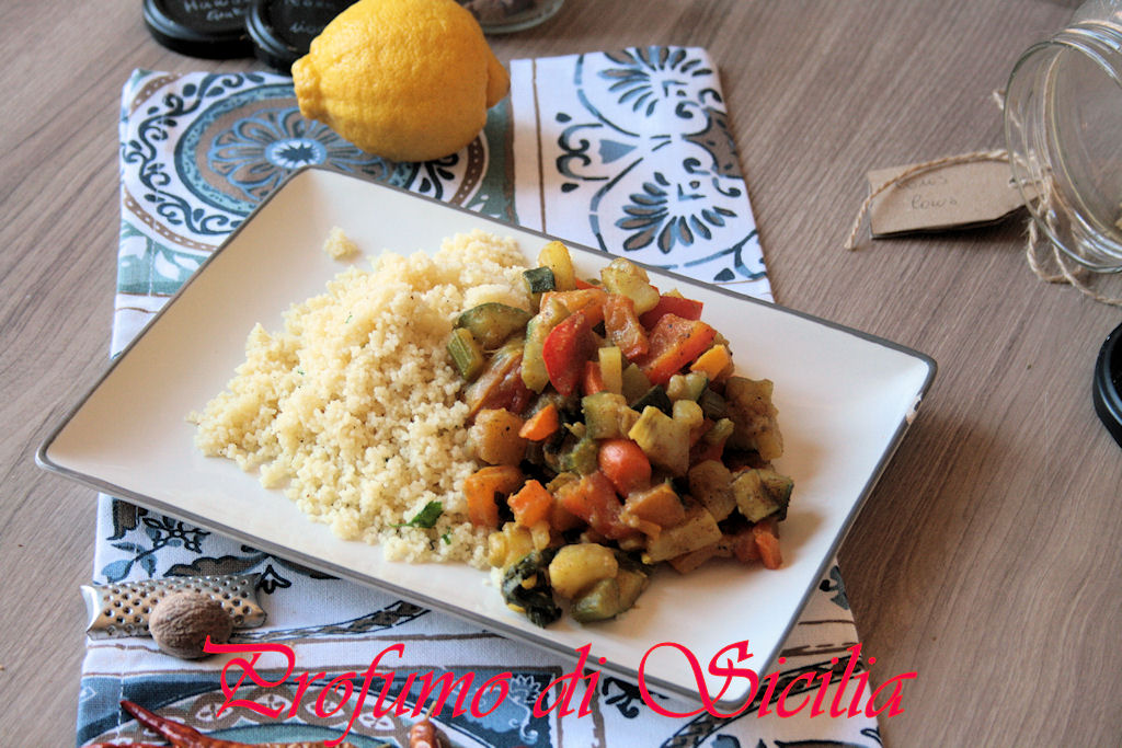 Cous Cous con Verdure al Ras el Hanout