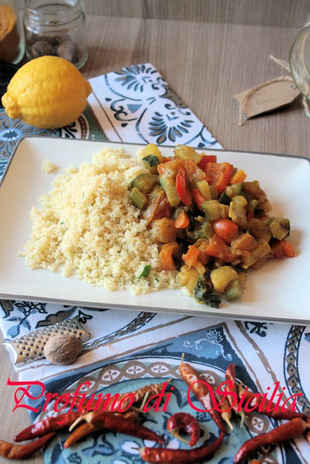 Cous Cous con Verdure al Ras el Hanout - Profumo di Sicilia