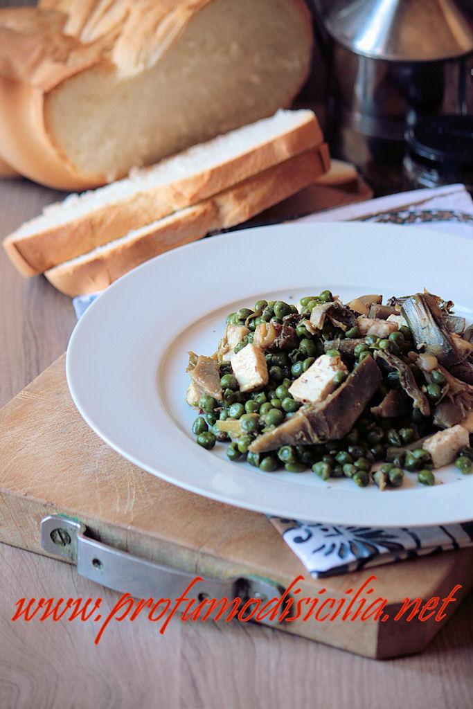 Pesce spada con carciofi e piselli un piatto tutto siciliano