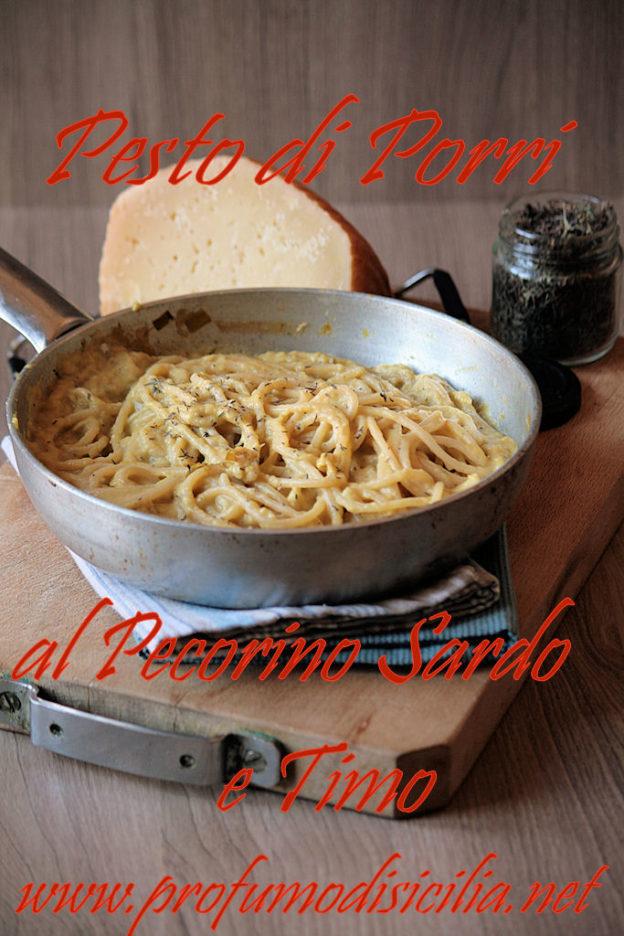 Pesto di Porri con Pecorino Sardo e Timo