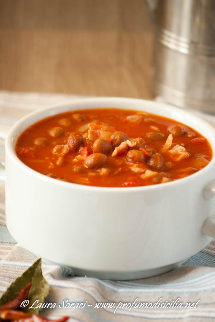 La zuppa di Fagioli Messicana con Pancetta
