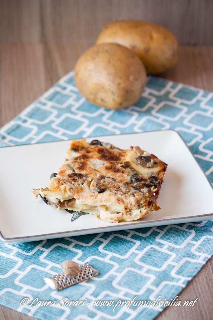 Tortino di Patate e Funghi Champignon
