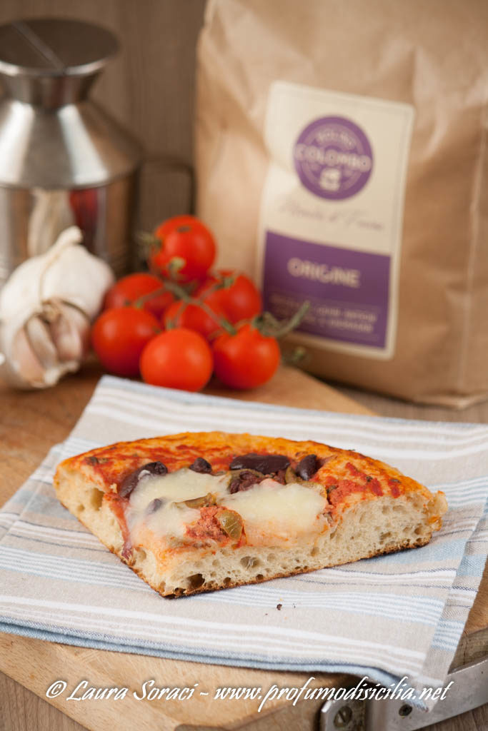 Pizza Alta in Teglia ai Grani Antichi