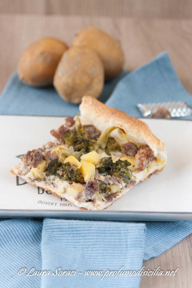 Torta salata con Broccoli e Pasta di Salame