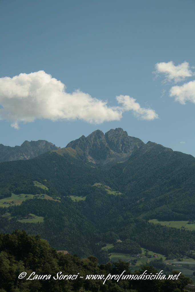 Vista delle montagne in Vacanza in Sud-Tirolo