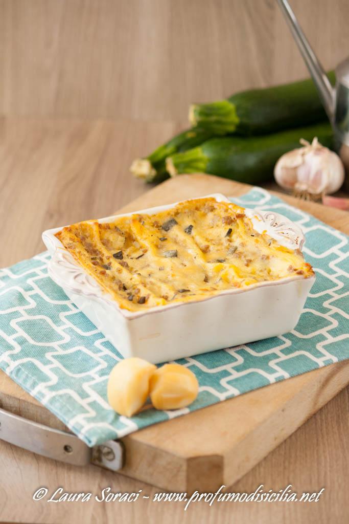Lasagne con Ragù bianco e Zucchine