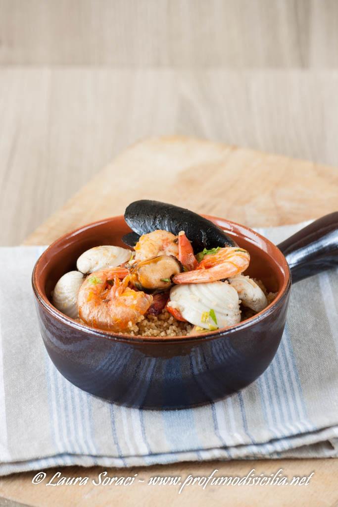 Cous cous con Cozze e Gamberi un piatto siciliano