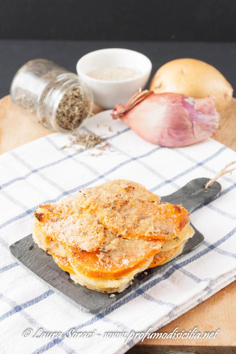 da servire come contorno o come secondo il tortino di zucca e patate è il top