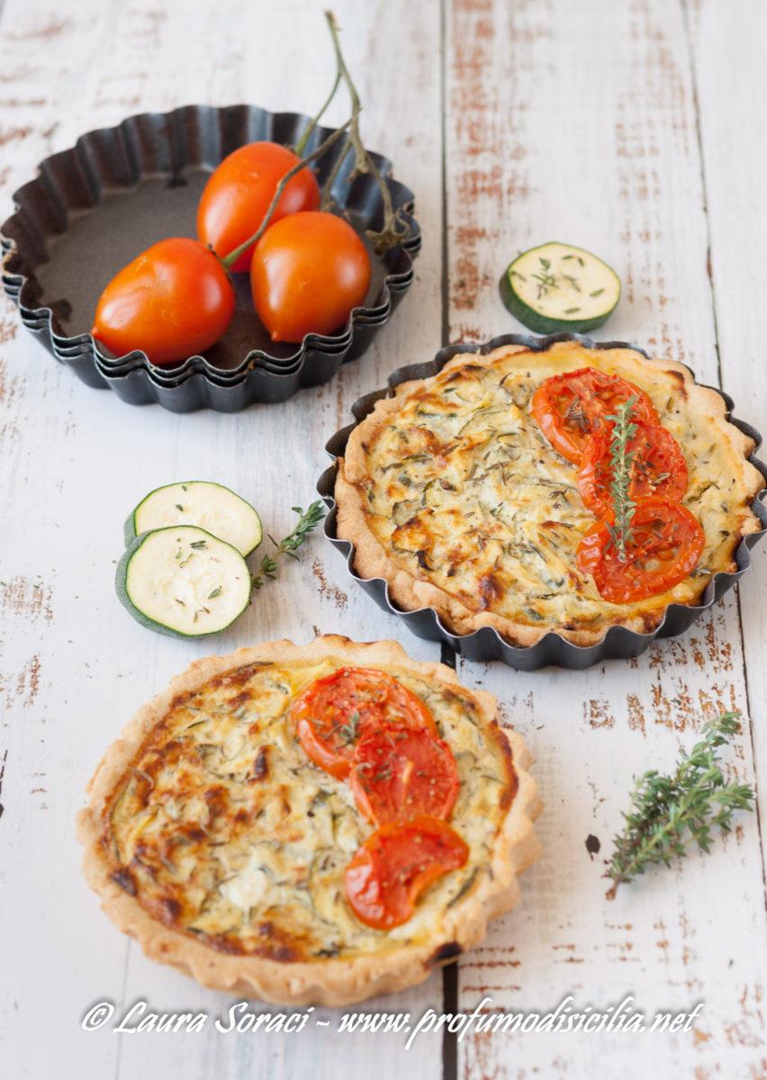 quiche zucchine e pomodori