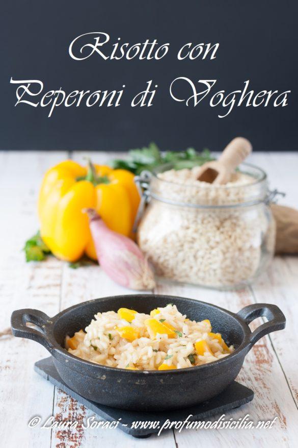 Un piatto unico Il risotto con Peperoni di Voghera