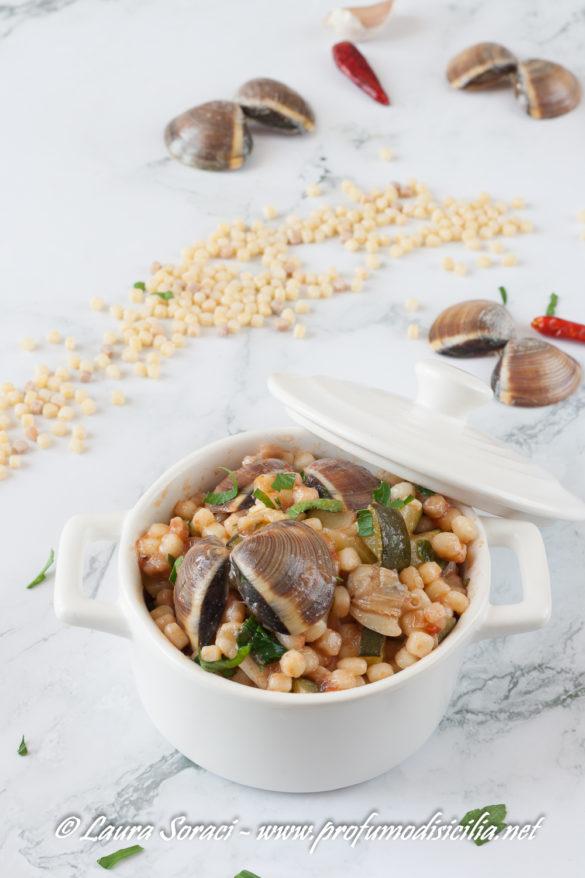 Fregola con vongole e zucchine sapori di Sardegna